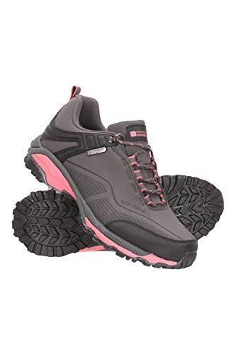 Mountain Warehouse Zapatillas Impermeables Collie para Mujer - Calzado liviano para Damas, Zapatos Transpirables, Zapatos Suaves para Caminar Gris Talla Zapatos Mujer 38 EU