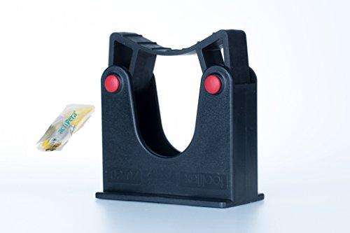 Toolflex Stockhalter Gerätehalter und Stielhalter für Durchmesser 20-30mm schwarz