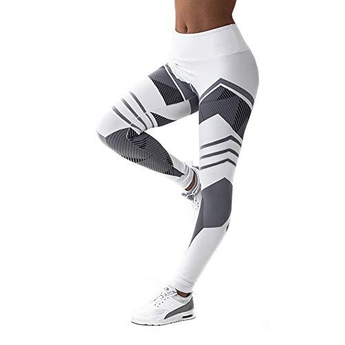 Preisvergleich Produktbild LFEU Dame Sport Leggings Frauen Mode Geometrische Fitness Kleidung Weiß Gym Sportswear Hohe Taille Yogahosen