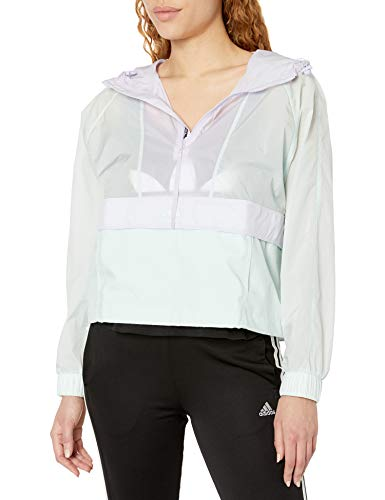 adidas Outdoor Women's Cropped WIND.RDY Dark Green/Purple Tint X-Large
