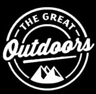The Great Outdoors Decal Vinyl Sticker|Cars Trucks Vans Walls Laptop| White |5.5 x 5 in|LLI295