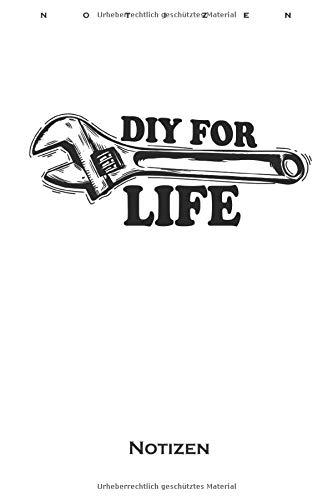 DIY For Life Heimwerker und Werkzeug Papa Notizbuch: Kariertes Notizbuch für fleißige Heimwerker und Bastler