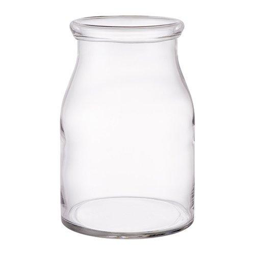 IKEA BEGÄRLIG Vase aus Klarglas; mundgeblasen; (29cm)