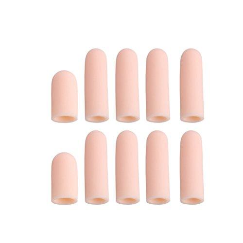 ULTNICE 10pcs Silikon Toe Tube Finger Ärmel Separatoren für Cracked Skin Corn Blister