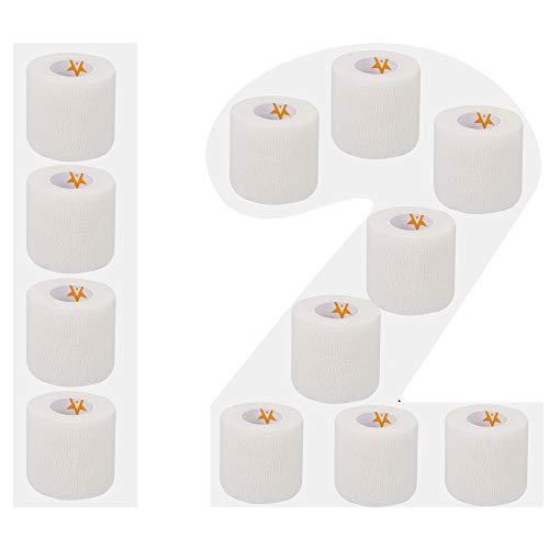 AMATHINGS 12 sztuk samoprzylepnych bandaży w kolorze białym, szerokość 5 cm, długość 450 cm
