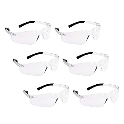 Amazon - Save 35%: ROAR Polycarbonate Clear Safety Glasses 6 pairs,Protective Eyewear…