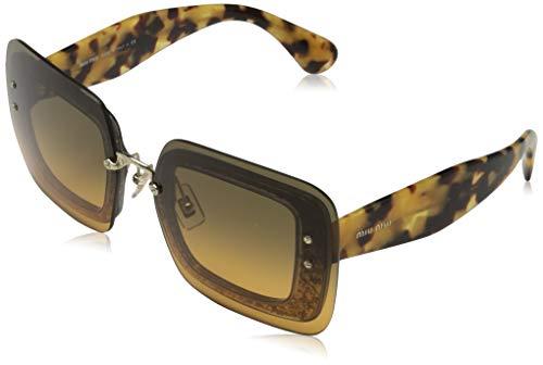 Miu Miu 0MU01RS PC80A3 67 Gafas de sol, Gris (Transparent Grey/Orange Light Green), Mujer