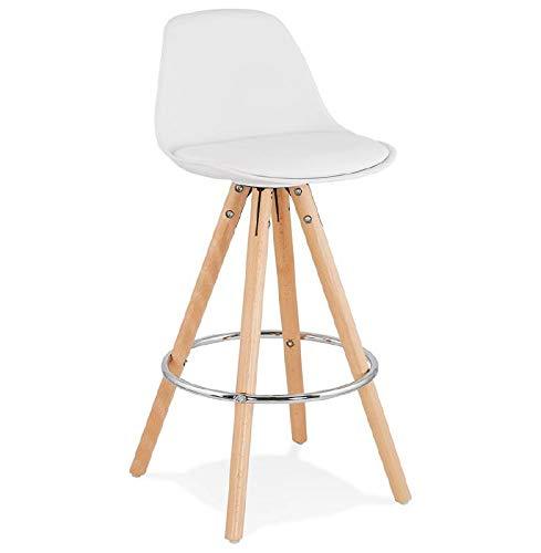 MK Barhocker skandinavischen Design eine halbe OKTAVE Mini (weiß)