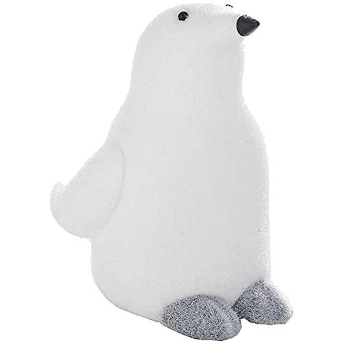 YuKeShop Adorno de pingüino para fiesta de Navidad, decoración de mesa, traje de muñeca para árbol de Navidad, vitrina