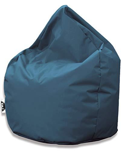 PH Patchhome Sitzsack Tropfenform - Blaugrau für In & Outdoor XXL 420 Liter - mit Styropor Füllung in 25 versch. Farben und 3 Größen