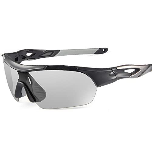 YHSW Gafas Deportivas de Ciclismo,Gafas Ciclismo Protectoras polarizadas,Sol conducción Pesca,para al Aire Libre (151 * 44 mm)