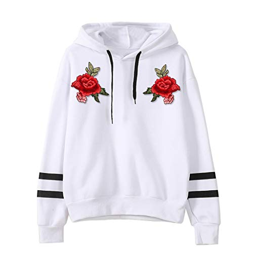New Amlaiworld Womens Long Sleeve Hoodie Sweatshirt Junior Girl Shirt Back to School Tops Appliques ...