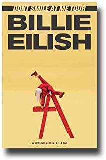 Billie Eilish Poster Concert Promo 11 x 17 inches Dont Smile at Me Tour Red Ladder
