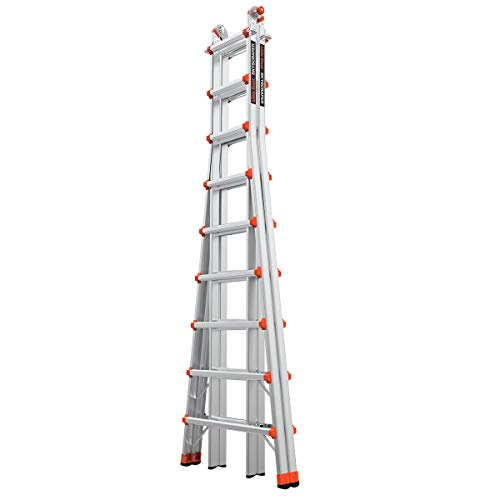 Little Giant Ladders, SkyScraper, M17, 9-17 Foot, Stepladder, Aluminum, Type 1A, 300 Lbs Weight Rating, (10110)