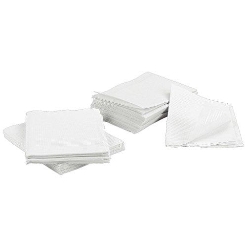 13 x 18 White Tattoo Piercing Disposable Waterproof Patient Dental Bibs, 125 Pack