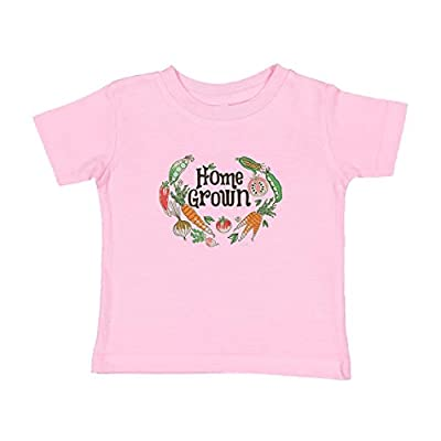 Baby Gifts For All Funny Childrens Clothes Vegetable Shirt Kids Farm Shirt Home Grown Veggie Shirt Toddler T-Shirt 3T Pink