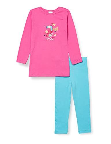 Schiesser Mädchen Schlafanzug lang Pyjamaset, Pink, 116