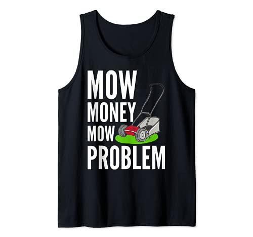 Cortacéspedes divertidos Cortar Dinero Cortar el Problema de Camiseta sin Mangas