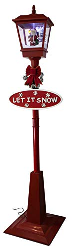 foolonli Schneiende Stand LED Laterne 180 cm Rot Motiv Santa Weihnachtsmann Nikolaus