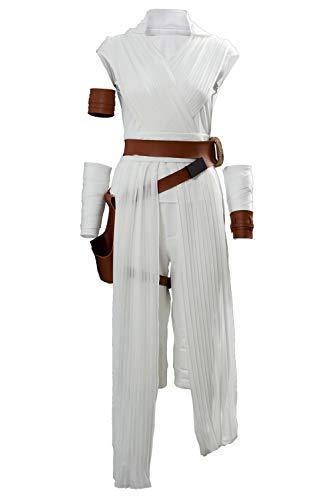 Linen Family Halloween Rey Kostüm Cosplay Damen Voller Anzug mit Gürtel & Holster Cosplay Outfit Kleidung Zubehör