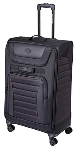 Harley-Davidson 31' Onyx Quilted Pullman Wheeled Luggage - Black 99229-BLK (31')