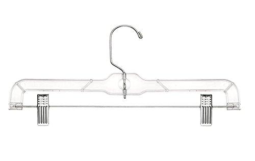 Merrick Crystal Skirt/Slack Hangers, Clear, Set of 12 (Made in USA)