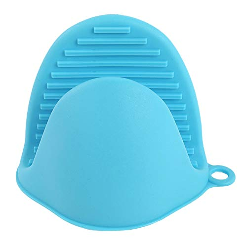 PPuujia Dikken Food Grade Siliconen Anti-Hot Handschoenen Folder Keuken Warmte-Isolatie Map Bakken Oven Hand Clip Mitts Bakken Accessoires (Kleur: Blauw)