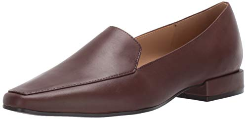 Naturalizer Women's CLEA Loafer Flat, Chocolate Leather, 9 M US