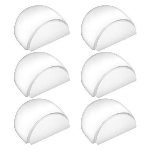 ZITFRI 6er Türstopper Boden Selbstklebend Bodentürstopper Transparent Türpuffer Boden Wandpuffe zum Schutz Wand und Möbel - alle Hartböden geeignet - unauffällige Stopper