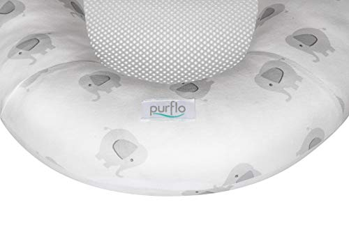 PurFlo Baby Replacement Cover for Newborn Breathable Sleep Nest 0-6M in Elephant
