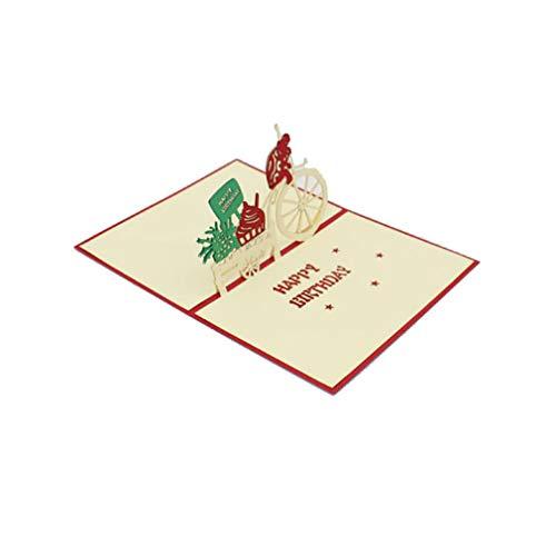Pinhan - Biglietti Di Natale 3D Con Animale, Per Natale, Capodanno