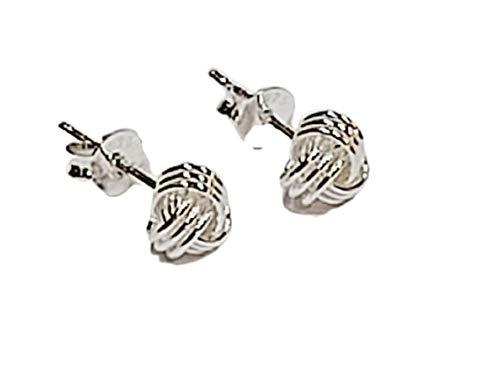 GOLDLINKS - 3 Strand Knot Earrings, Sterling Silver Stud Earrings For Women, Boxed Gift Set, Wedding, Birthday, Christmas,