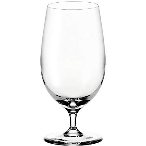 Leonardo Ciao+ Bier-Glas, Bier-Tulpe mit gezogenem Stiel, spülmaschinenfeste Bier-Gläser, 6er Set, 390 ml, 061451