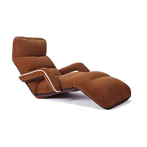 Cojín de la Silla Gaming Floor Silla Grande de Suelo for Adultos Sillas Sofá reclinable Cabeza hacia atrás del pie Ajustable, cómodo Espuma de Memoria y Soporte for la Espalda