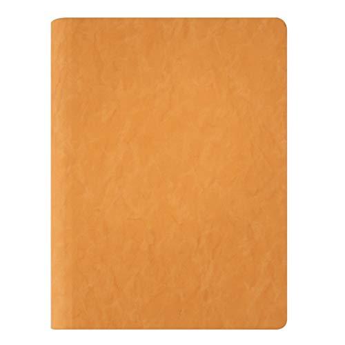 Cuadernos A5 simple PU Diario Business Art Meeting Manual grueso cuaderno diario de hojas sueltas clip de metal puede reemplazar el núcleo interno Diario