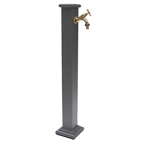 Fontana a Colonna in ghisa e Acciaio con Rubinetto MOD. 303B in Ottone bronzato per Esterno casa Giardino Modello Sidney