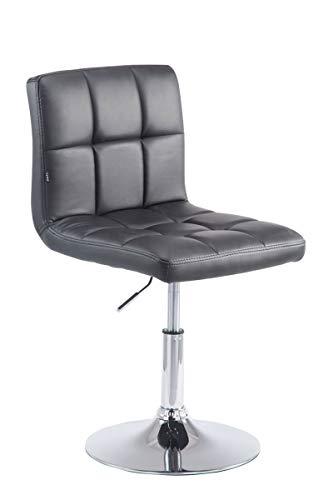 CLP Drehstuhl Palma V2 mit hochwertiger Polsterung und Kunstlederbezug I Höhenverstellbarer Esszimmerstuhl mit Metallgestell in Chrom-Optik, Farbe:schwarz