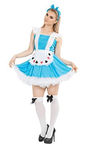 ORION COSTUMES Damen Blaue Alice Märchenfigur Maskenkostüm