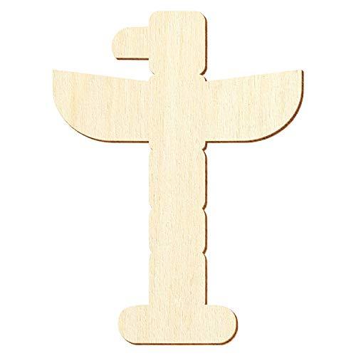 Holz Totempfahl - Deko Basteln 3-50cm, Pack mit:10 Stück, Größe:45cm