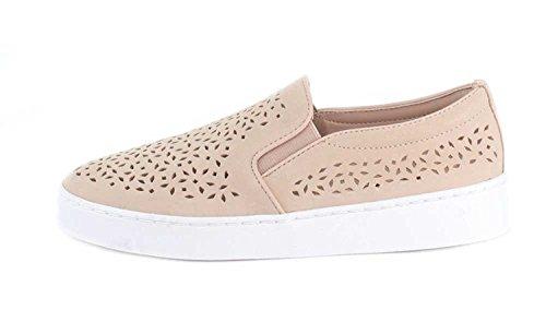 Vionic Women's Splendid Midi Perf Slip-on - Ladies Sneakers with Concealed Orthotic Arch Support Dusty Pink 5 M US