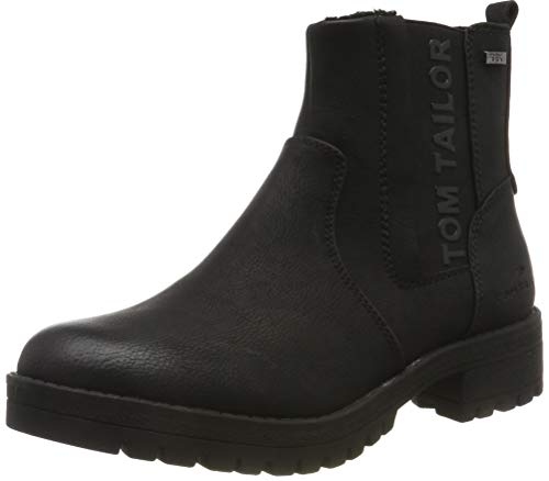 TOM TAILOR Damen 7991009 Stiefeletten, Schwarz (Black 00001), 38 EU