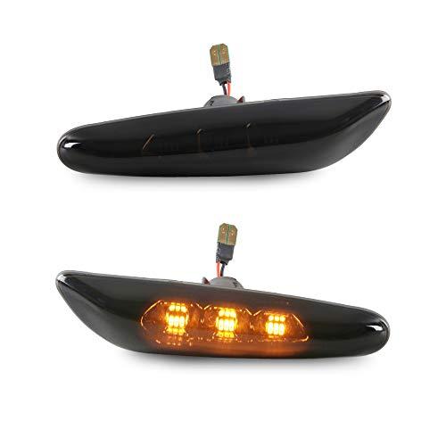 Smoke LED Seitenblinker Seiten Blinker Klarglas kompatibel für 1er E81 E82 E87 E88 3er E90 E91 E92 E93 E46 5er E60 E61 X1 X3