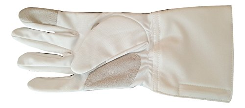 Balaur 3-Weapon Practice Glove Washable Epee Foil Sabre White Polyester (8, Right)