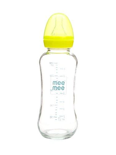 Mee Mee Premium Glass Feeding Bottle (240 ml, Green)
