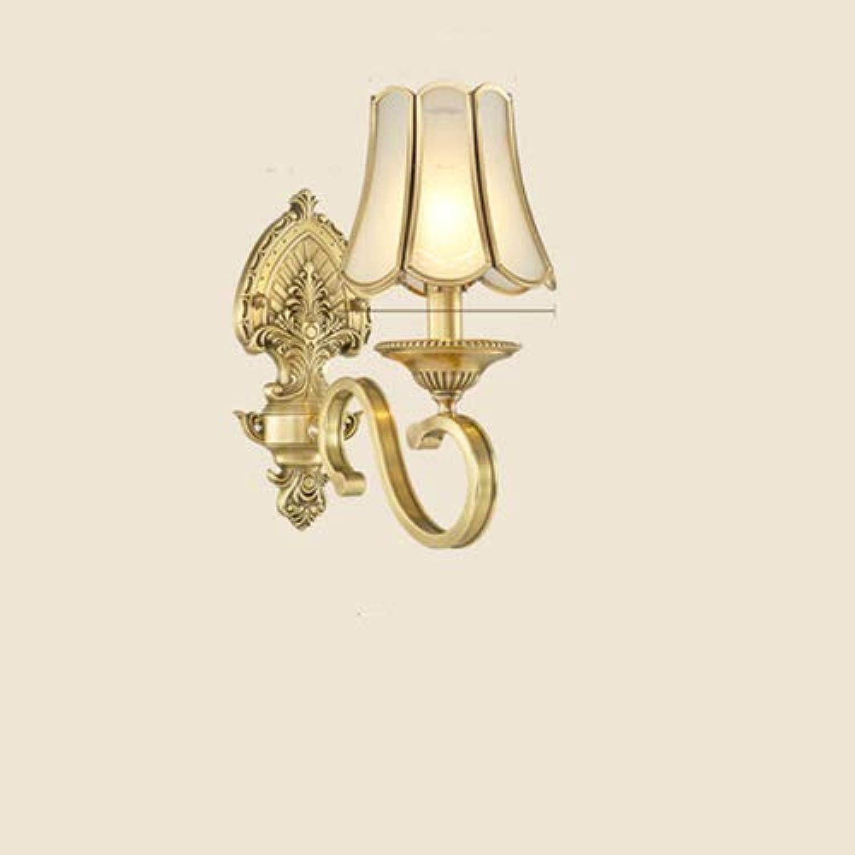 Mmyunx Amerikanische antike Gold Glas Wandleuchten Persnlichkeit Schlafzimmer Nachtwandleuchten Spiegel Front Wohnzimmer Korridor Wandleuchten,Double
