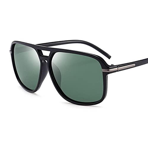 U/N Moda Cool Square Style Gradient Gafas de Sol polarizadas Hombres Que conducen Gafas de Sol Vintage Hombre-1