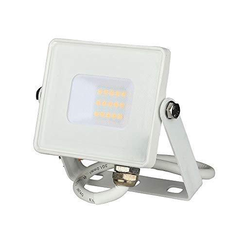 V-TAC VT-10 LED Proyector con SMD Chip Samsung, Aluminio, Blanco, 115 x 108 x 26 mm