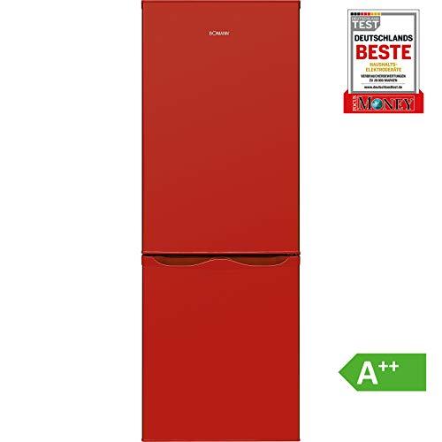Bomann KG 320.1 Kühl-Gefrier-Kombination (Gefrierteil unten) / A++ / 143 cm / 160 kWh/Jahr / 122 L Kühlteil / 43 Gefrierteil / Abtauautomatik / rot