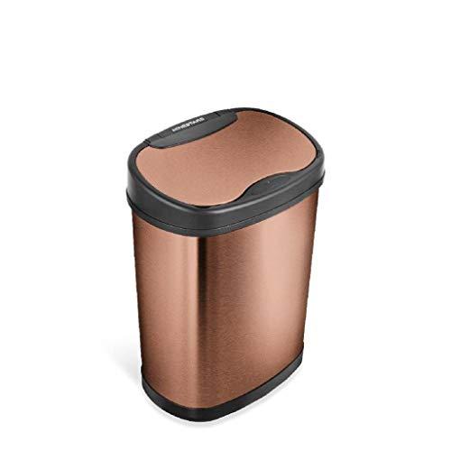 NINESTARS DZT-15-13GD Mülleimer mit Bewegungssensor, klein, goldfarben