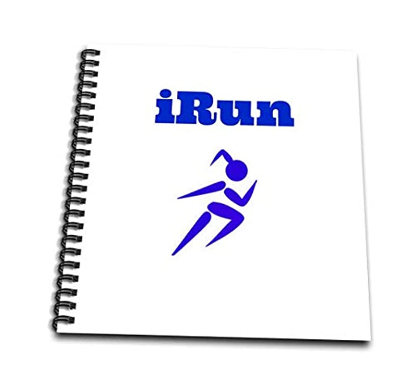 3dRose db_172367_2 I Run, Picture of Female Running, Blue Lettering Memory Book, 12 by 12-Inch